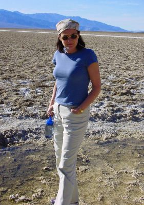 Kathy in Death Valley